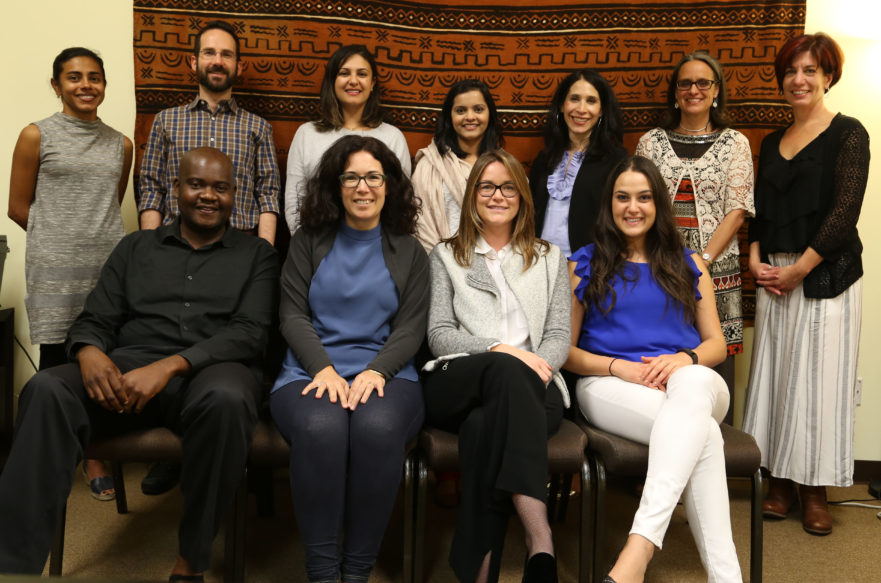2016-2017 Global Healing and Human Rights graduates with staff members Annika Sridharan and Hillary Combs